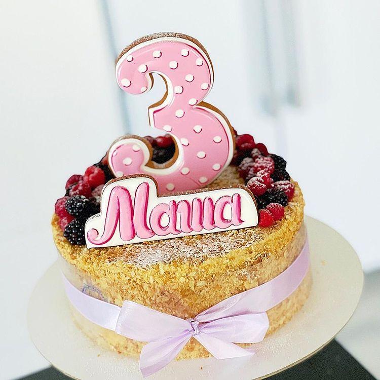 торт на день рождения девочки 3 года