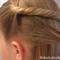 Прическа из длинных  волос  – к празднику в школе и детском саду.