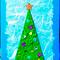 Новогодние открытки своими руками: блестящие  елочки .