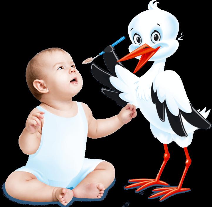 ребенок и аист