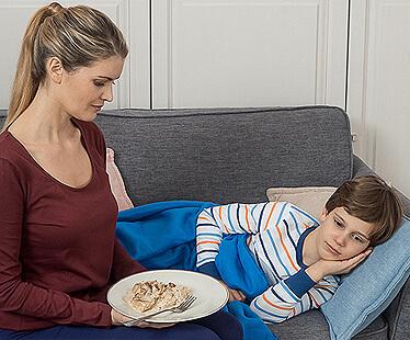 Режим и рацион питания при простуде
