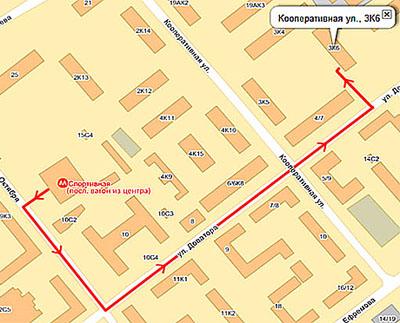 улиц 10-летия Октября и