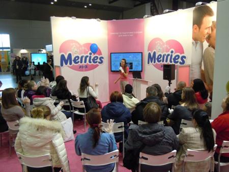 Компания Merries провела семинар для молодых родителей на выставке в Санкт-Петербурге