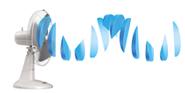 Лопасти обычного вентилятора создают вибрацию
