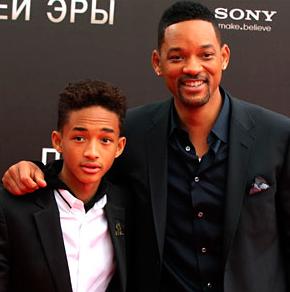 Уилл Смит с сыном представили в Москве свой новый фильм ''После нашей эры''