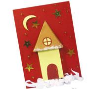 Елизавета Барышева: Новогодняя открытка своими руками. ''Зимний домик''