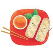 Элеонора Тэри: Весенние рецепты с овощами: спринг-роллы и розочки из кабачков
