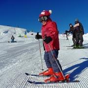 Как отметить день рождения зимой? Домбай, первый спуск на горных лыжах