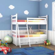Двухъярусная кровать: двое или больше детей и мало места