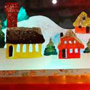 Анастасия Рякина: Новый год: окно в сказочном стиле. Мастер-класс с шаблоном