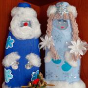 Дед Мороз и Снегурочка своими руками: поделки под елку