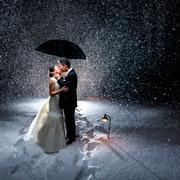 Свадьба зимой: идеи для фотосессии в снегу