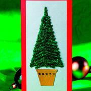 Новогодние открытки своими руками: блестящие елочки