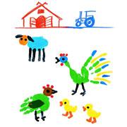 Как рисовать красками с малышом: 5 сюжетов для пальчиков и ладошек