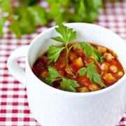 Рождественский пост: котлеты из чечевицы и нут в томатном соусе