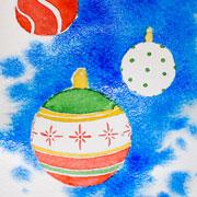 Новогодняя открытка – своими руками: мастер-класс. Рисуем акварелью