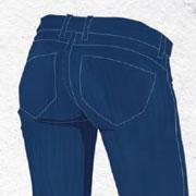 Женские джинсы и красивые ягодицы: все о карманах и высокой талии