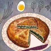 Греческие рецепты: пирог со шпинатом и запеканка из нута