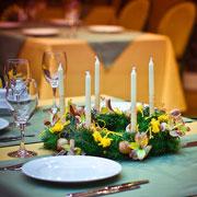 Новогодний венок своими руками: украшение для стола