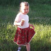 Летняя юбка для девочки своими руками