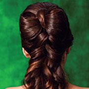 Прическа на выпускной: фото и мастер-класс. Бант из длинных волос