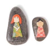 Камешки с картинками: вместо кукол и для развития речи