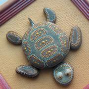 Как сделать поделку своими руками из морской гальки: черепашка из камней