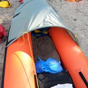 На байдарке по Ладожскому озеру с детьми - 9 лет, 4 года и грудничком