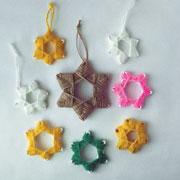 Как сделать елочные игрушки из бумаги и ниток: мастер-класс