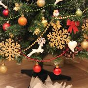 Елочные игрушки на год Собаки – с отпечатками собачьих лап