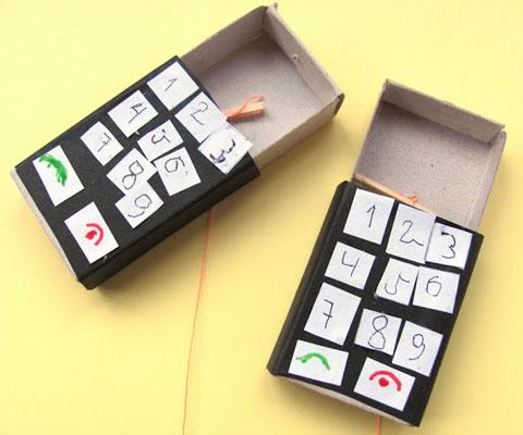 Как сделать телефон из спичек