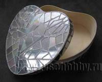 Шкатулка с мозаикой из CD дисков