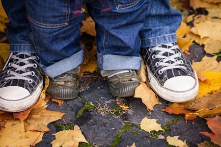 Покупка обуви для малыша