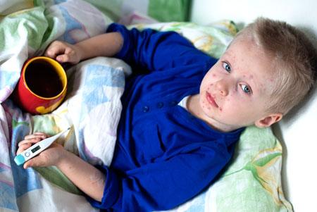 Сыпь после высокой температуры у маленького ребенка