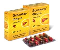 Препарат Эссливер форте - фосфолипиды для похудения