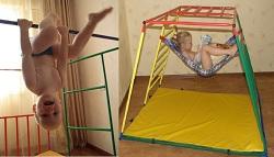 Дети воспринимают Ранний старт как игровое пространство, как площадку, где можно висеть, качаться, спрыгивать, кувыркаться, отдыхать...