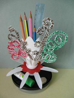 Бабочки из пластиковых отходов