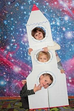 Пятилетие сынули в космическом стиле