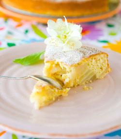 Грушевый пирог с цельнозерновой мукой torta integrale di pere