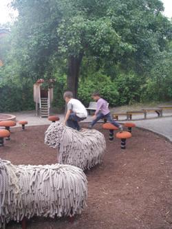 Скансен вязаные овечки