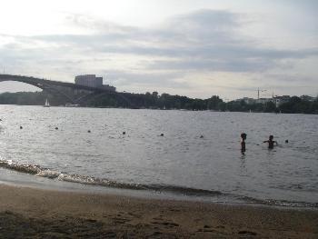 Пляж на Лонгхольмене
