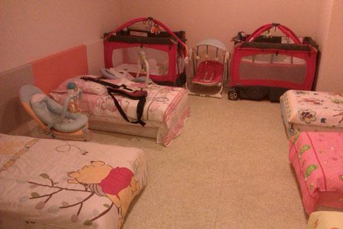 Спальная комната в детском клубе
