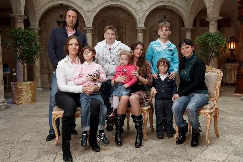 Ольга Сорокина с семьей