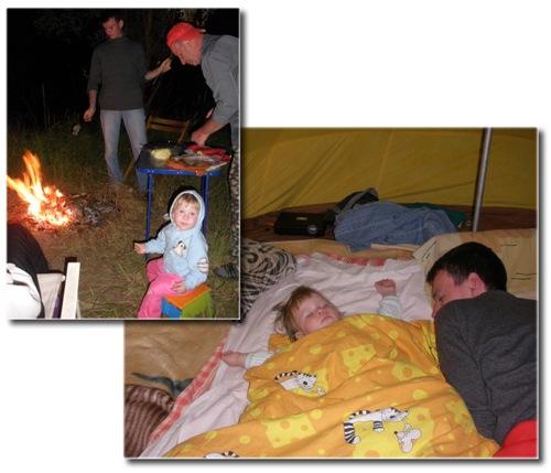 Малыш на природе - первая ночевка в палатке