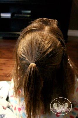 Праздничные прически для девочек - мастер-класс (продолжение)