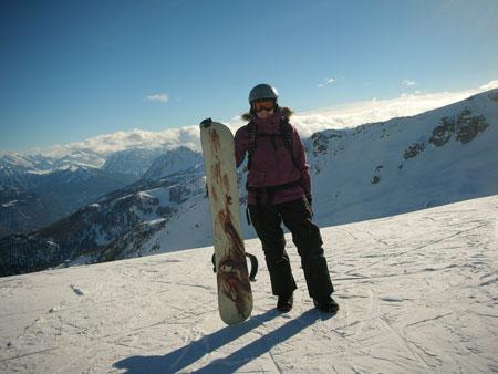 Сноуборд в 10 недель и лыжи в 20 недель беременности