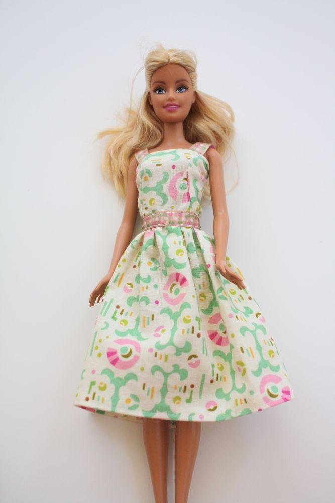 Платье кукле обычной