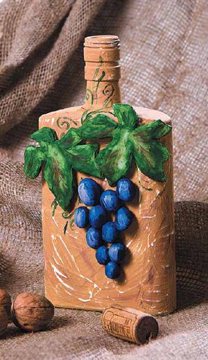 Декор бутылок своими руками: живые краски природы