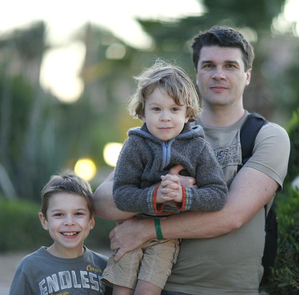 Муж Ирины Чадеевой с детьми
