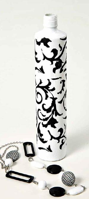 ''Зимняя'' и ''летняя'' бутылки. Мастер-класс росписи по стеклу